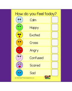 How Do You Feel Today? Emotions Poster