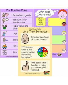 Positive Behaviour Posters Set - Set of 3 A3 Posters