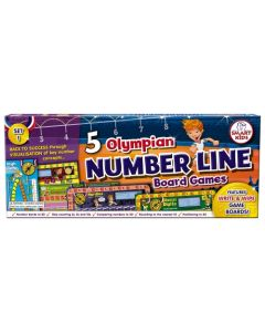 5 Olympian Number Line Board Games