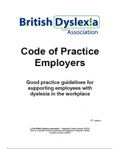 British Dyslexia Association Code of Practice Employers