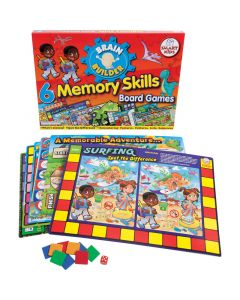 Brain Builder - 6 Memory Skills Board Games