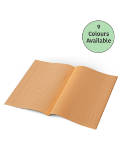 A4 -10mm Lined Tinted Exercise Book - (Yellow Cover)
