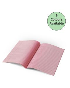 "9"" x 7"" - 10mm Lined Tinted Paper - Exercise Book (Yellow Cover)"