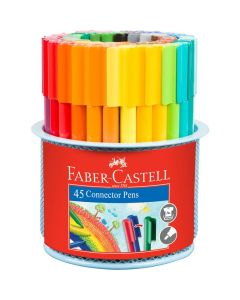 Faber-Castell 45 Connector Pens in Metal Mesh Tin