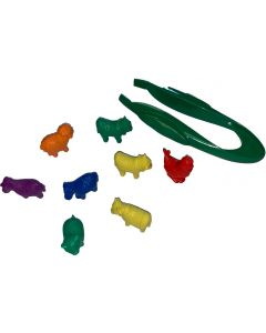 Farm Animal Counters with Tweezers - Pack of 72