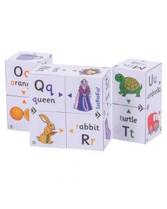 Alphabet First Phonics and Colour Matching Cubebook