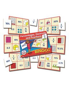 Percentages, Decimals and Fractions Bingo