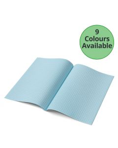 A4 - 7mm Squared Tinted Exercise Book - (Red Cover)