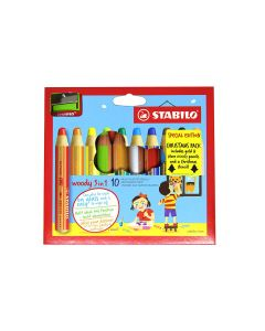 Stabilo Woody 3 in 1 Coloured Pencils & Sharpener