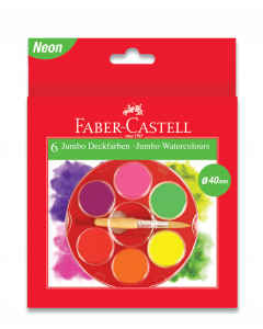 Faber-Castell 6 Jumbo Watercolour Paints