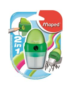 Maped Astro 1 Hole Clean Pencil Sharpener & Eraser 2 in 1 Stylish Combo Tool