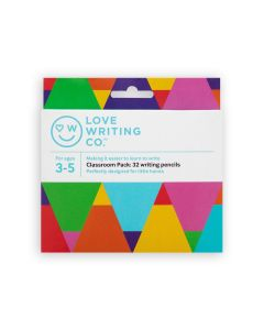 Love Writing Co. Ages 3-5 - Writing Pencils – Jumbo Pack of 32