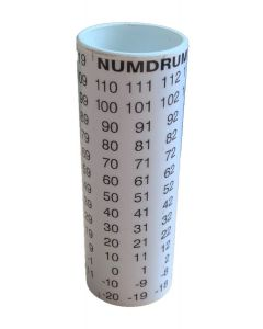 10cm White Positive / Negative Numdrum