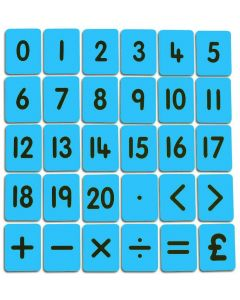 CHILD'S 0-20/FUNCTIONS CARD SET – BLUE