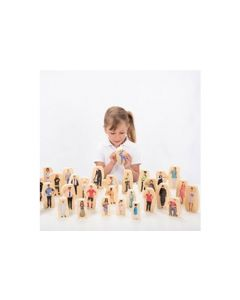 Wooden Community People Blocks - Pk32