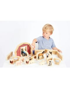 Wooden Farm Blocks - Pk25