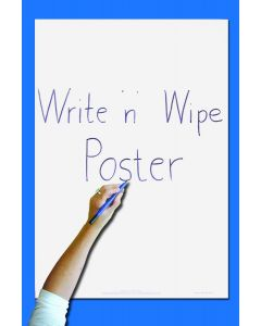 Write 'n' Wipe Poster/Pen - Plain