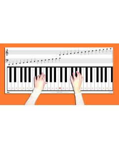 4 Octave Keyboard & Note Chart With Full Size Keys