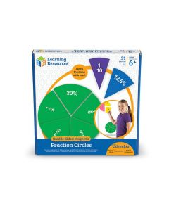 Giant Double-Sided Magnetic Fraction Circles Demonstration Set