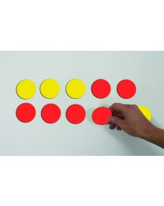 MAGNETIC DOUBLE-SIDED COUNTERS – RED/YELLOW