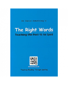 The Right Words: Teaching the Post-16 to Spell