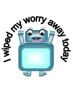 The Worry Wiper Stickers Set